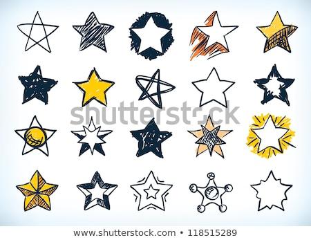 Сток-фото: желтый · звездой · иллюстрация · дизайна · фон