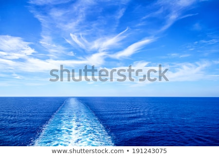 Stock photo: the wake of the ship