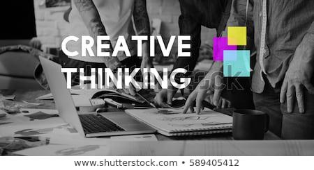 Creative creativity graphic designer working with graphics table Stock photo © Freedomz
