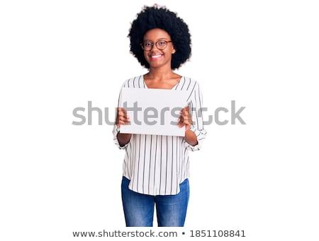 Plakát 3d illusztráció izolált fehér háttér felirat Stock fotó © montego