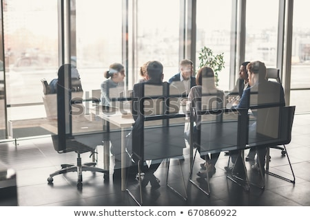 üzleti csoport megbeszélés fényes ablakok digitális kompozit nő Stock fotó © wavebreak_media