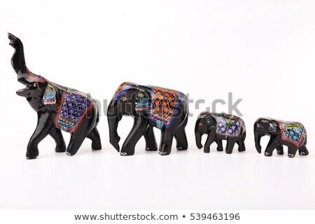 Statuette of the Indian elephant Stock photo © galitskaya
