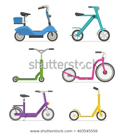elektromos · lökés · moped · ikon · stílus · illusztráció - stock fotó © shai_halud