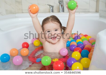 Bath with small child Stock photo © robStock