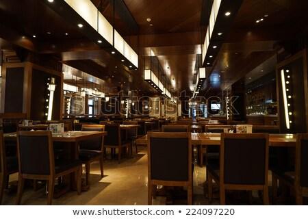 интерьер современных ресторан служивший мягкой роскошный Сток-фото © pressmaster