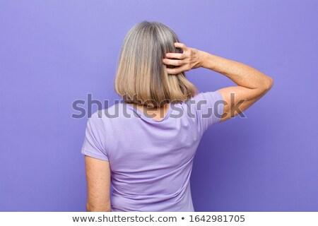 Vista laterale senior donna piedi Foto d'archivio © wavebreak_media