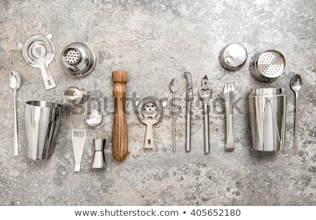 set of bar tools on stone table stock photo © karandaev