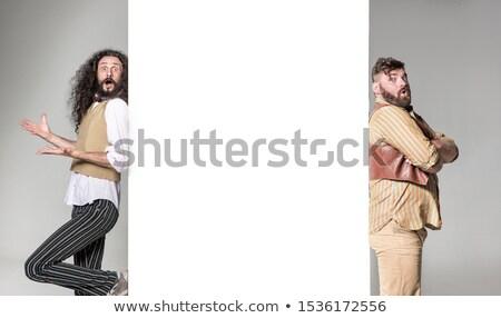 面白い · 肖像 · スキニー · 作業 · ビジネスマン · スーツ - ストックフォト © majdansky