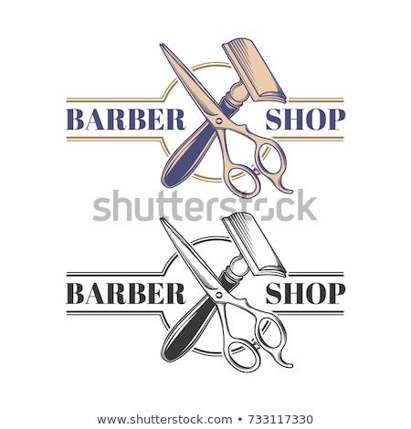 Stockfoto: Gekleurd · scheermes · illustratie · vector · zwarte