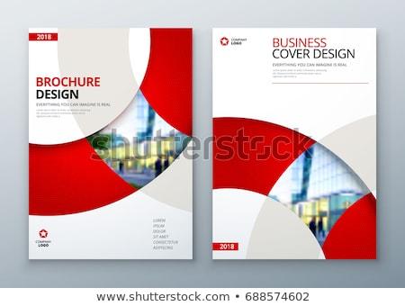 Vector verslag brochure dekken ontwerpen Stockfoto © blumer1979