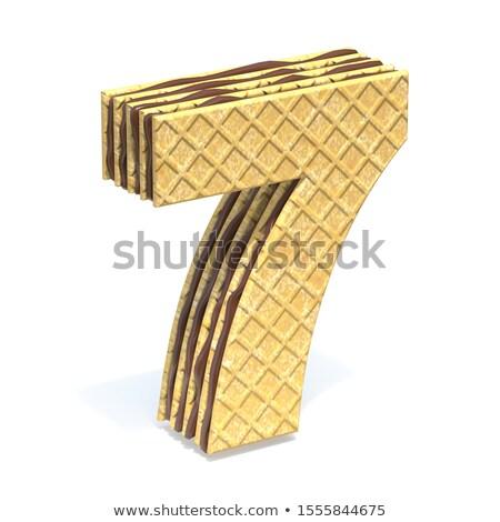 Doopvont chocolade room vulling aantal zeven Stockfoto © djmilic