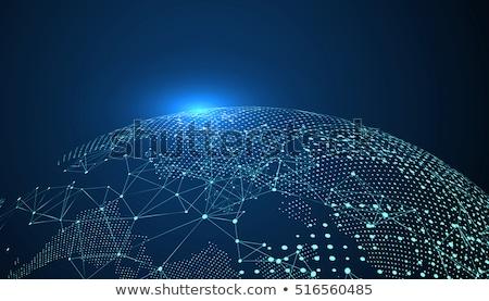 Globo azul isolado ilustração 3d mundo tecnologia Foto stock © ISerg