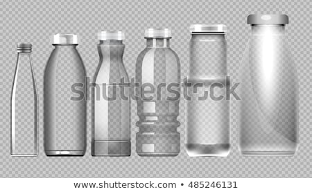 Glass Bottle Closed By Silver Cap For Water Vector Stock photo © pikepicture