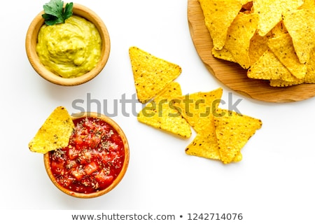 nachos with guacamole Stock photo © tycoon