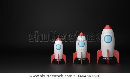Establecer tamaño Cartoon negro tres rojo Foto stock © make