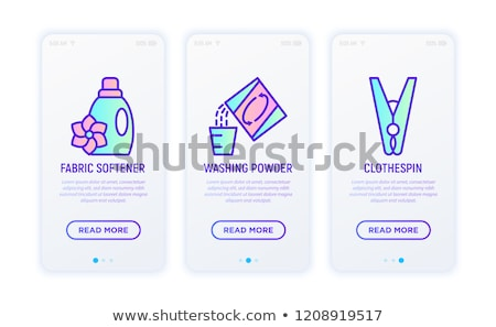 Laundry Service Washing Liquid Package Vector Icon Stock photo © pikepicture