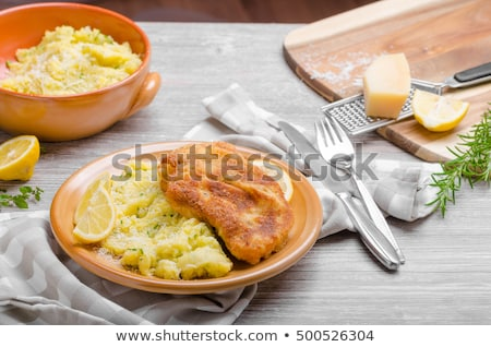 Delicious original schnitzel Stock photo © Peteer