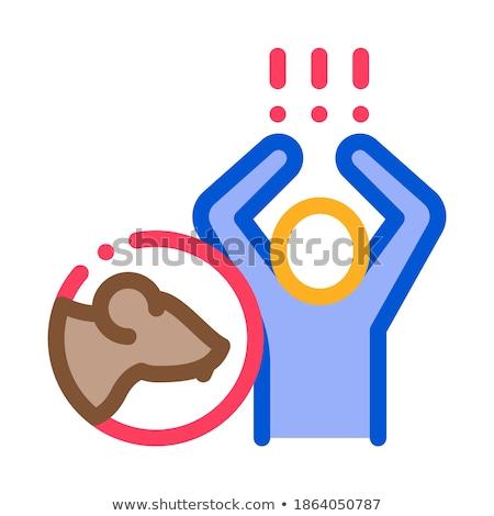 Humanismo pânico ícone vetor ilustração Foto stock © pikepicture