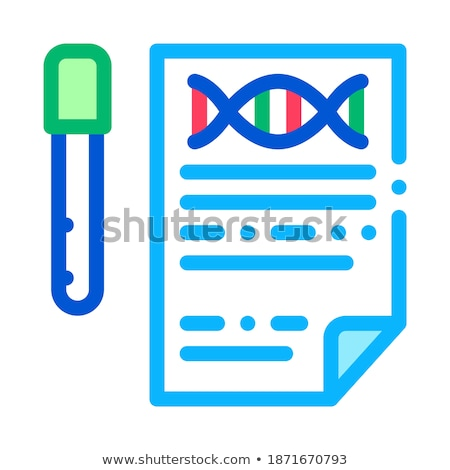 Result Test List Flask Icon Outline Illustration Stock photo © pikepicture