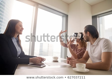 Interactieve virtueel realiteit leven moderne entertainment Stockfoto © robuart