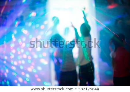 Kolorowy skupić klub dance strony projektu Zdjęcia stock © SArts