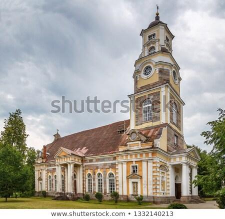 Lutheran church in Aluksne, Latvia Stock photo © borisb17