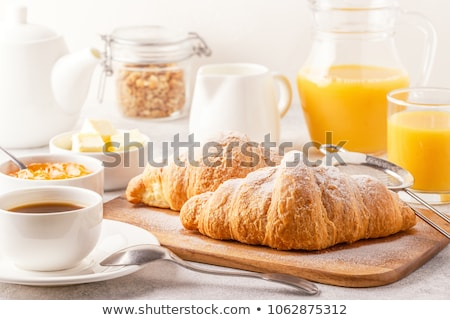 朝食 オレンジジュース クロワッサン 先頭 表示 木製のテーブル ストックフォト © karandaev