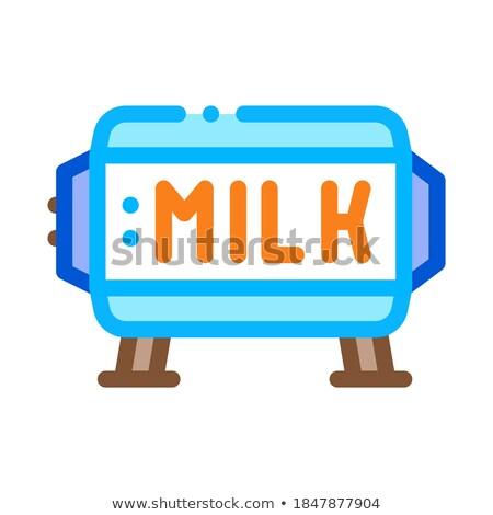 Miktar süt tank ikon vektör Stok fotoğraf © pikepicture