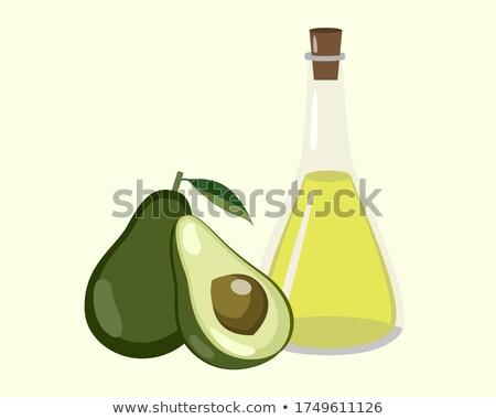 Vitamin kezelés fél avokádó gyümölcs vektor Stock fotó © robuart