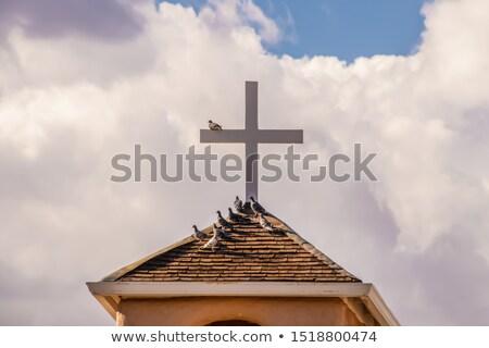 harang · torony · küldetés · égbolt · épület · kereszt - stock fotó © bobkeenan