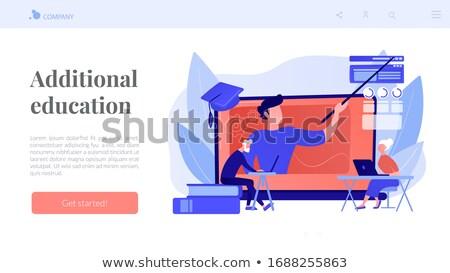 Online learning for seniors concept landing page Stock photo © RAStudio