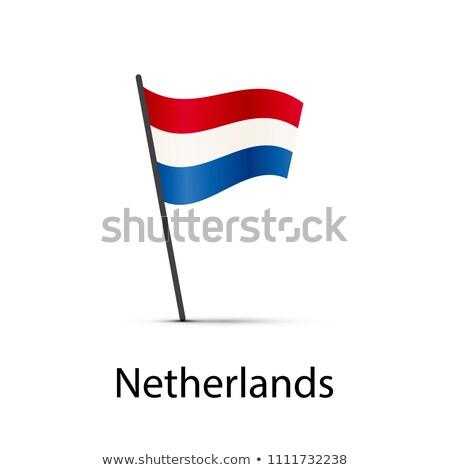 Países Bajos bandera polo infografía elemento blanco Foto stock © evgeny89