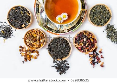 различный высушите травяной чай Кубок деревянный стол Top Сток-фото © karandaev