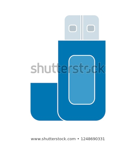 Vector ingesteld usb flash drive kantoor tekening Stockfoto © olllikeballoon
