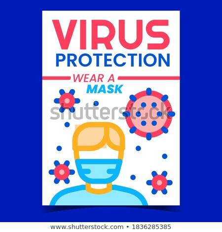 Malattia virus creativo poster vettore Foto d'archivio © pikepicture