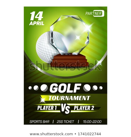Golf trophée meilleur score golfeur affiche Photo stock © pikepicture