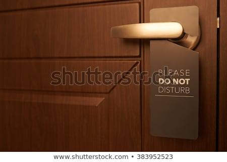 отель · двери · знак · не · номер · в · отеле - Сток-фото © pancaketom