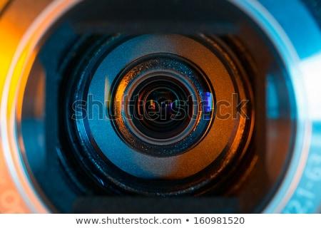 Cctv bezpieczeństwa kamery wideo notebooka ekranu Zdjęcia stock © AndreyPopov