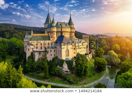Kasteel Slowakije middeleeuwse origineel gothic communie Stockfoto © borisb17