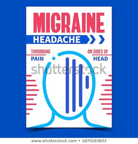 Migraine Headache Creative Advertise Banner Vector Stock photo © pikepicture