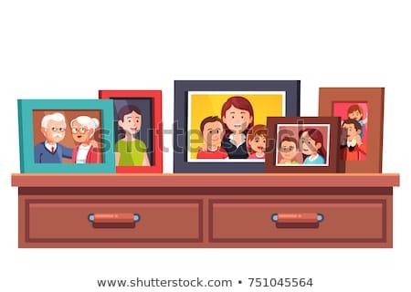 Couple Old photo frame isolated Stock photo © nuttakit