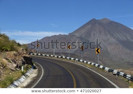 Kalifornia autópálya tábla zöld Mexikó felhő utca Stock fotó © kbuntu