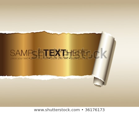 Vector ripped golden paper Stock photo © orson