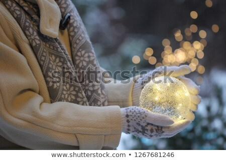 Glass with ball for knitting Stock photo © RuslanOmega