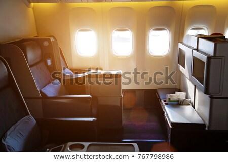 Repülőgép első osztály jegy közelkép sekély papír Stock fotó © ldambies