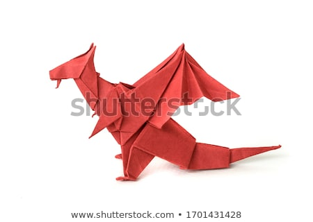 origami dragon red stock photo © unkreatives