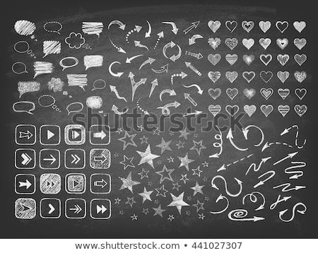 Heart on blackboard stock photo © bbbar