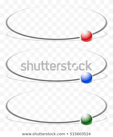 Vortice rosso verde blu sfere abstract Foto d'archivio © Balefire9