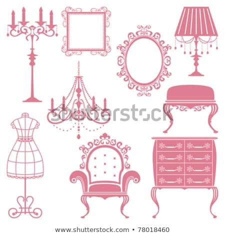 набор антикварная мебель объекты коллекция дизайна Сток-фото © ElaK