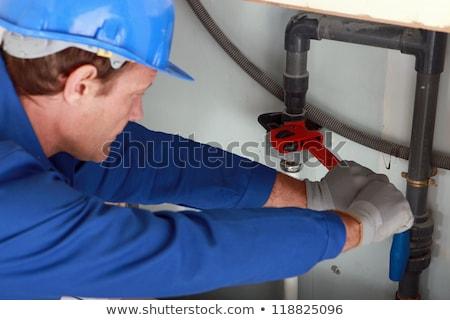 sanitair · moer · sleutel · water · gebouw · bouw - stockfoto © photography33
